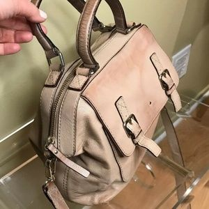 Kate Spade Beige Smooth Leather Crossbody Hand Bag